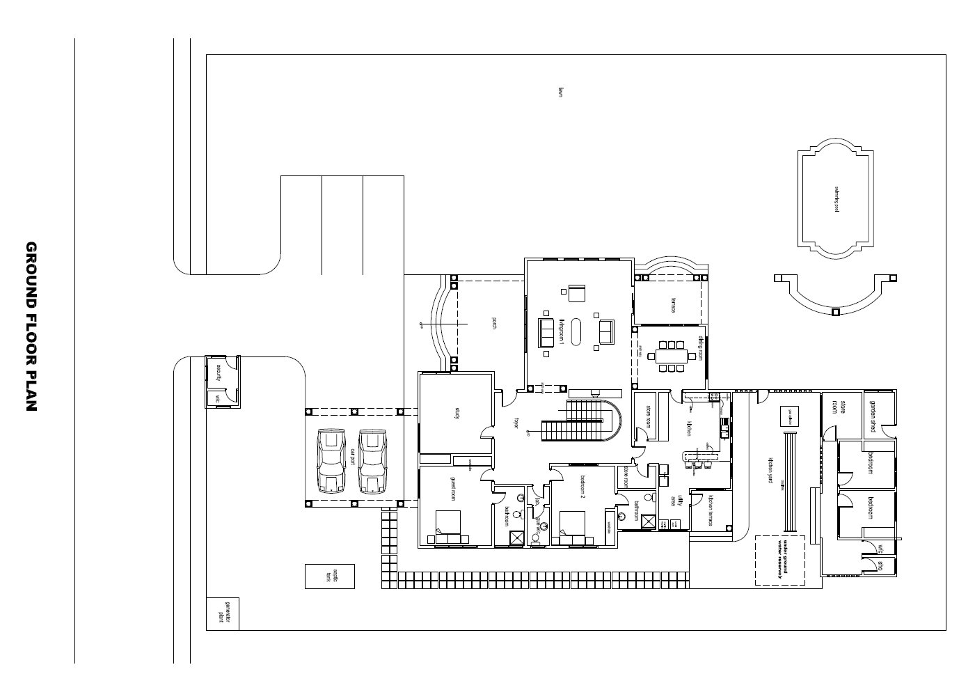 Ghana house plans manhyia house plan for Nigeria house design plans
