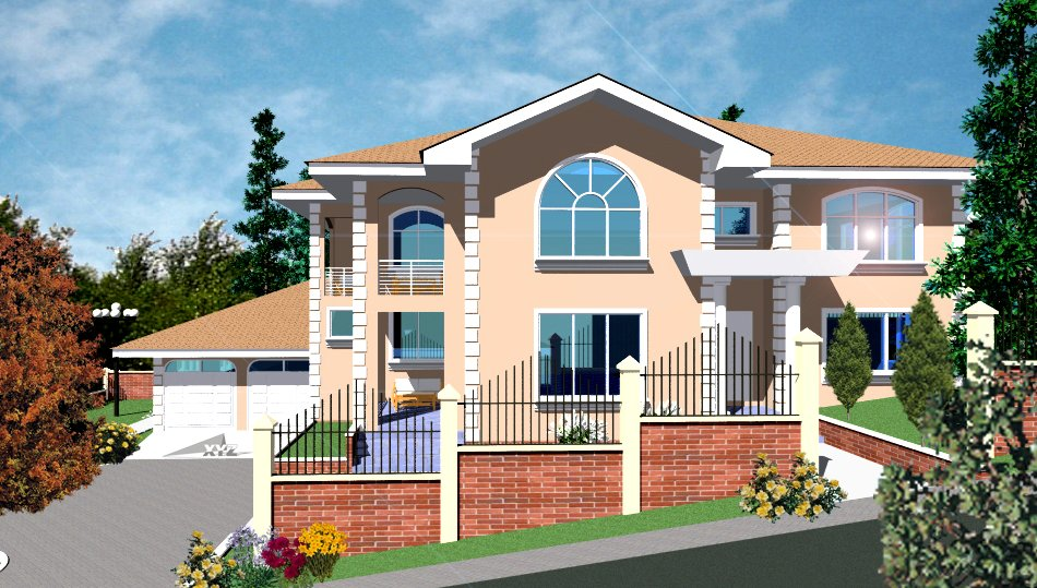Small modern house in tanzania for Modern house plans in ghana