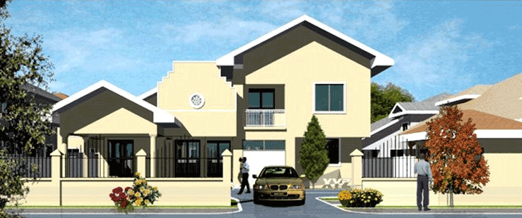 House plans and design modern house plans in ghana for Modern houses in ghana