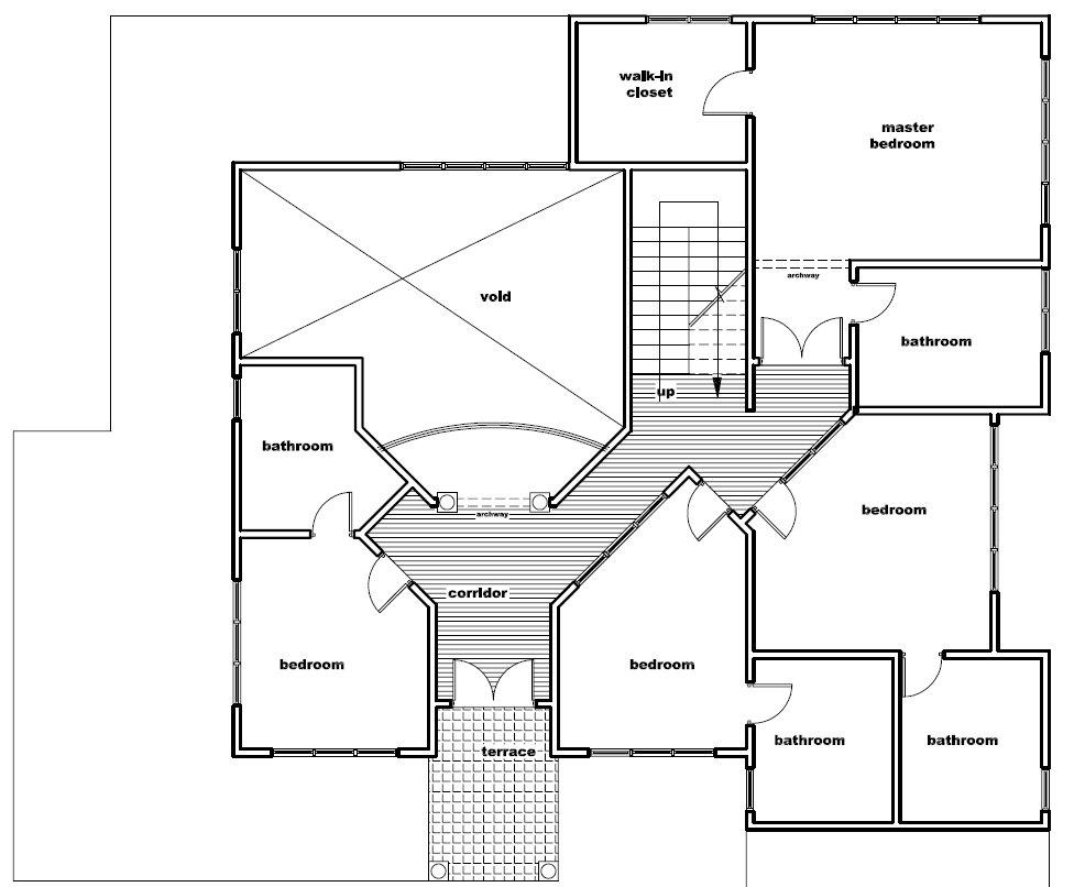 Ghana House Plans Oheema House Plan First Floor