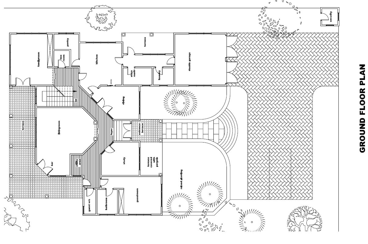 Ghana House Plans Ohemaa House Plan