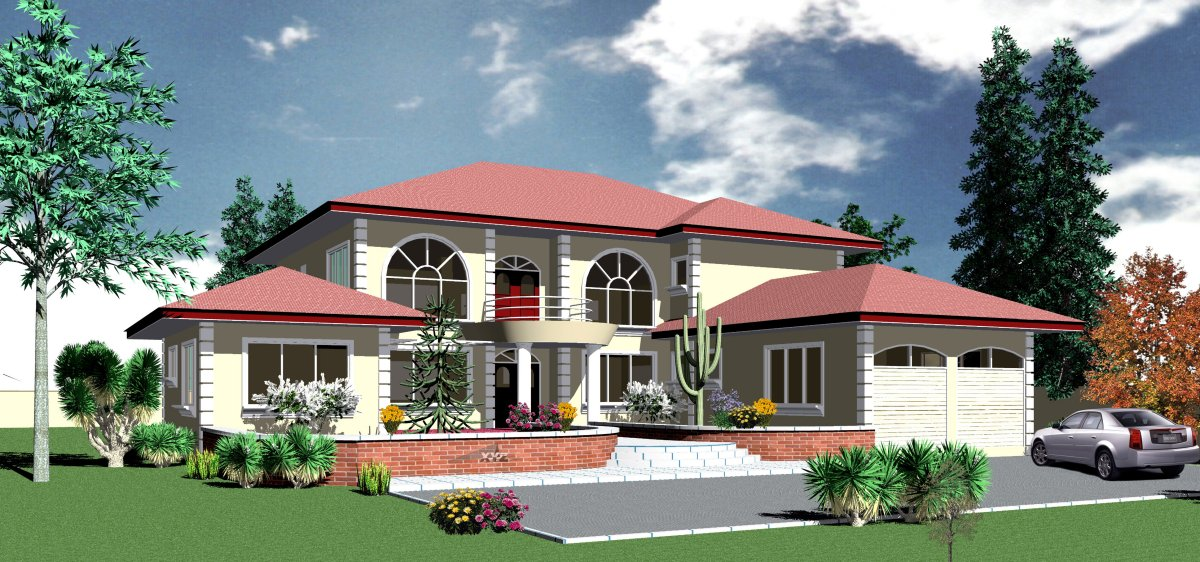 Ghana house plans ohemaa house plan for Home designs ghana