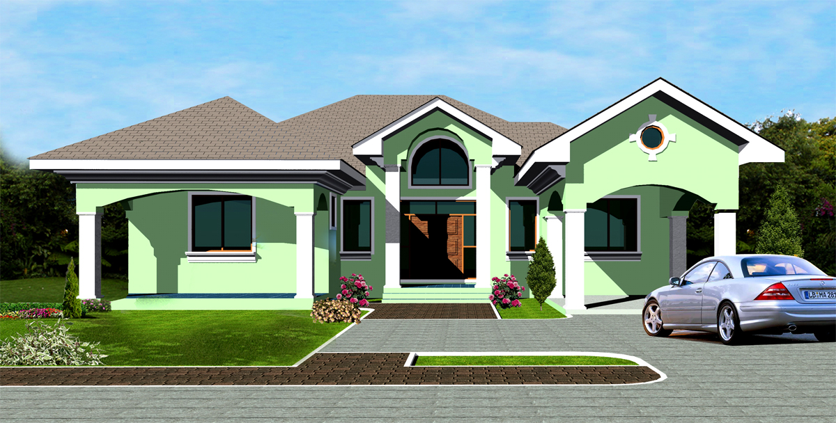 Ghana house plans ohene house plan for House plans in ghana