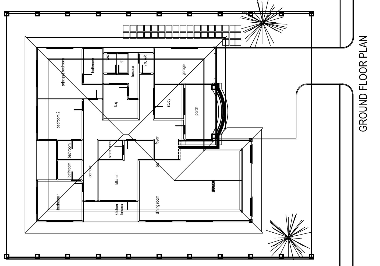 Okyeame house plan 1097