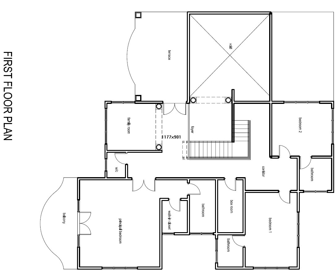 Lovely House Plan Drawings Part - 5: Osagyefo-ghana-house-plan-First-Floor