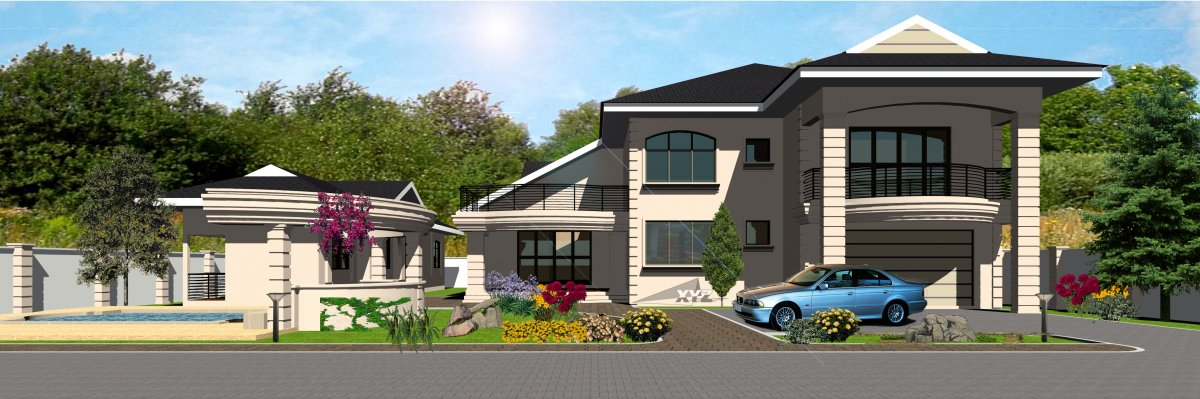 Ghana house plans osagyefo house plan for Ghana home designs