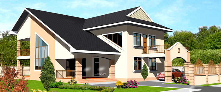 Ghana house plans tordia house plan for Home designs ghana