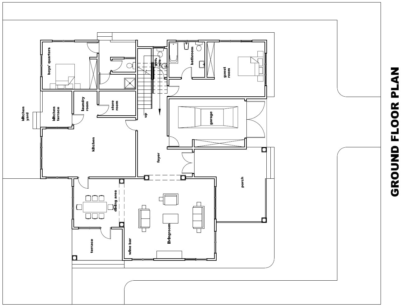 Ghana House Plans Torgbii House Plan Ground Plan