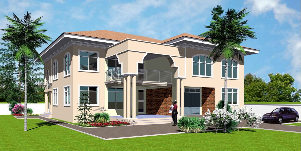 Ghana house plans torgbii house plan for Modern house plans in ghana