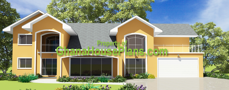 Ghana House Plans Prempeh House Plans Home Front View