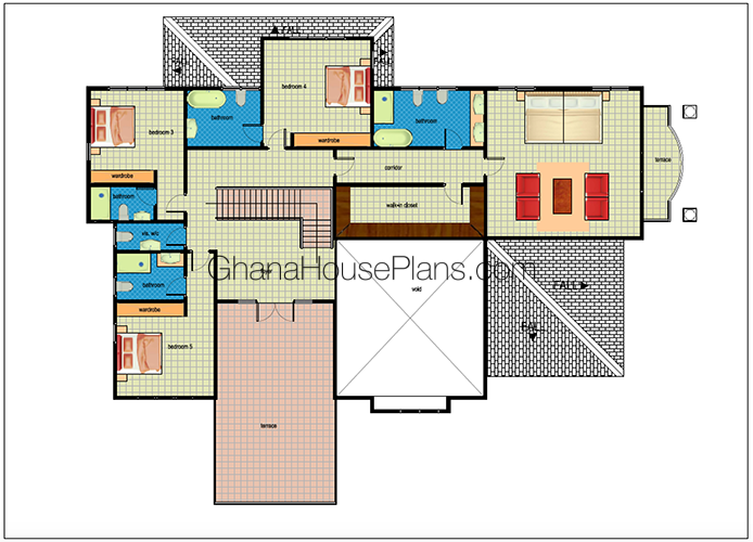 Ghana House Plans Sierra House Plan