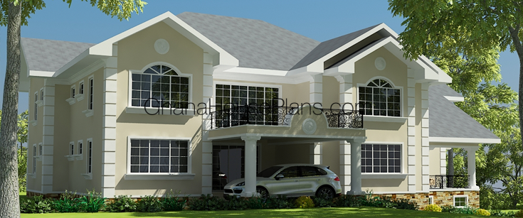 Ghana house plans sierra house plan for Home designs ghana