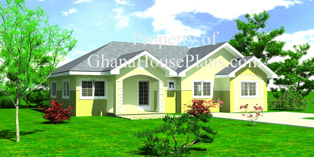 Home plans with cost to build a bill of quantity and for Three bedroom house plan in ghana
