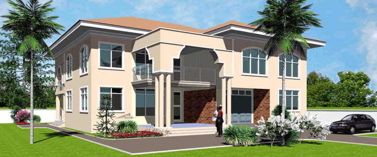 House plans with pictures for ghana senegal liberia africa for Single person house