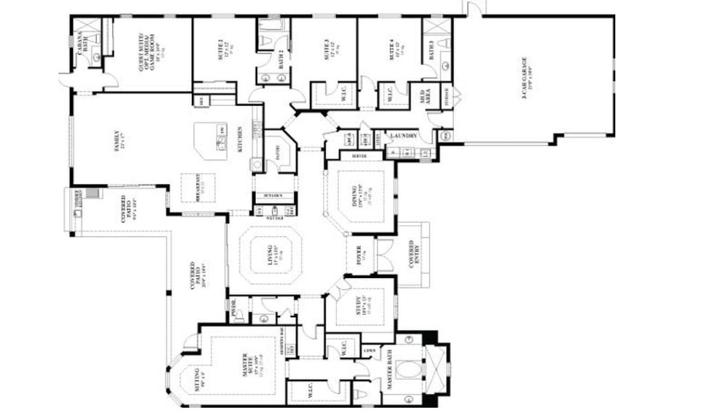 5 easy ways to read architectural floor plans ghana for Reading framing blueprints