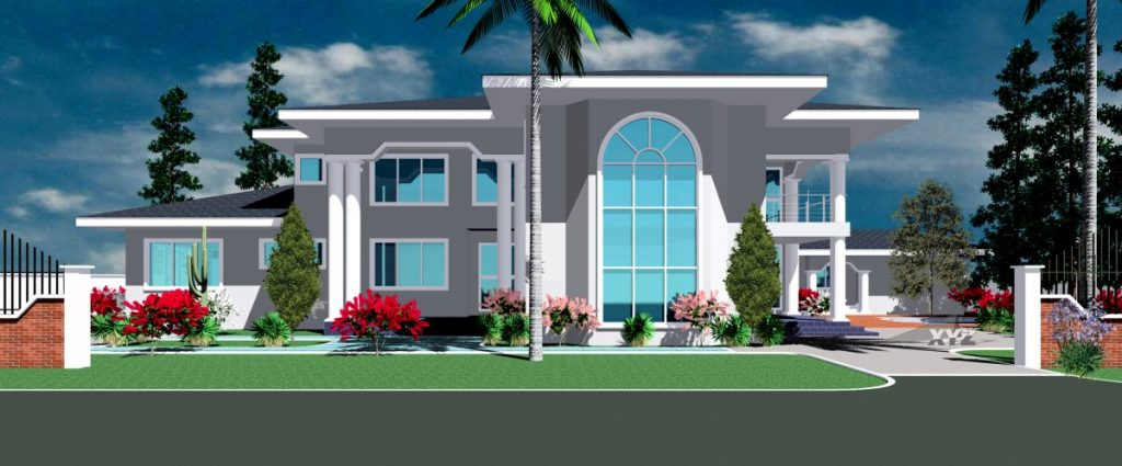 Architectural design home plan for ghana and all africa for Ghana house plans for sale