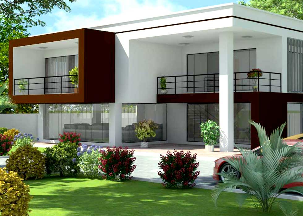 Contemporary home plan
