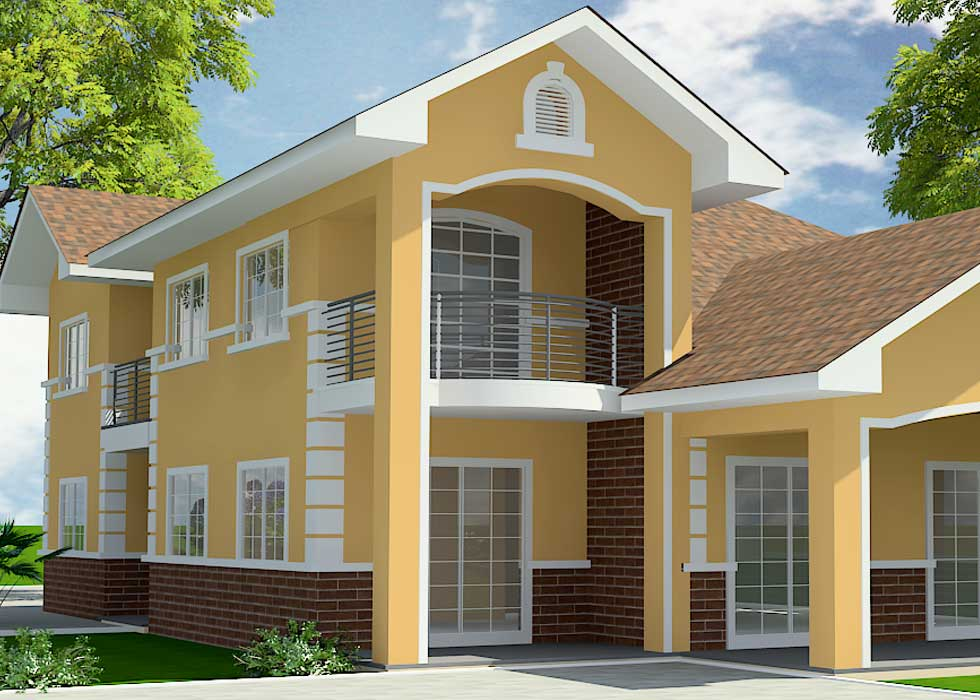Family house plan designed for ghana and all african towns for Family house plans