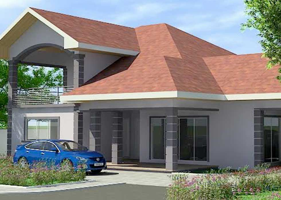 Building plans for sale 4 beds 4 baths house plan for for Modern contemporary house plans for sale