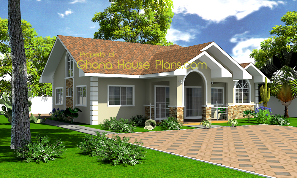 Small cottage plans designed for a growing family in africa for Ghana house plan