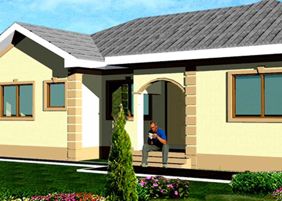 3 Bedrooms Home Design