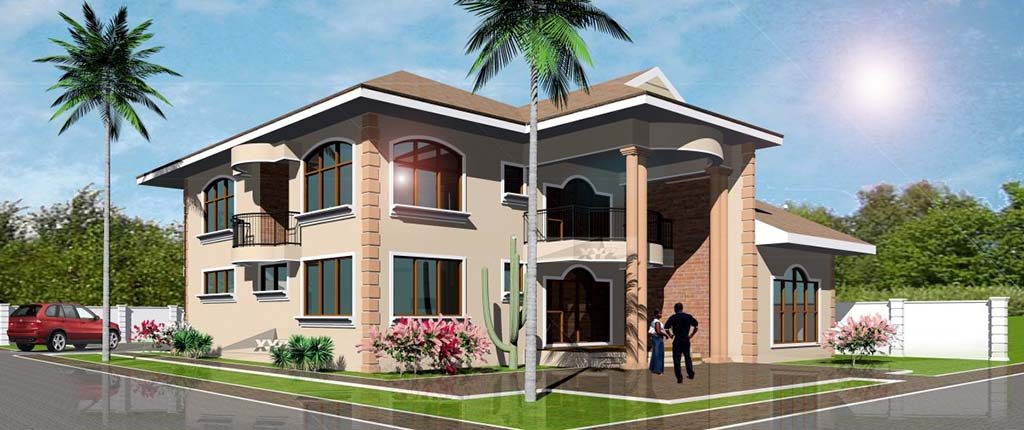 Dream home design plan for ghana and all africa countries for Modern houses in ghana