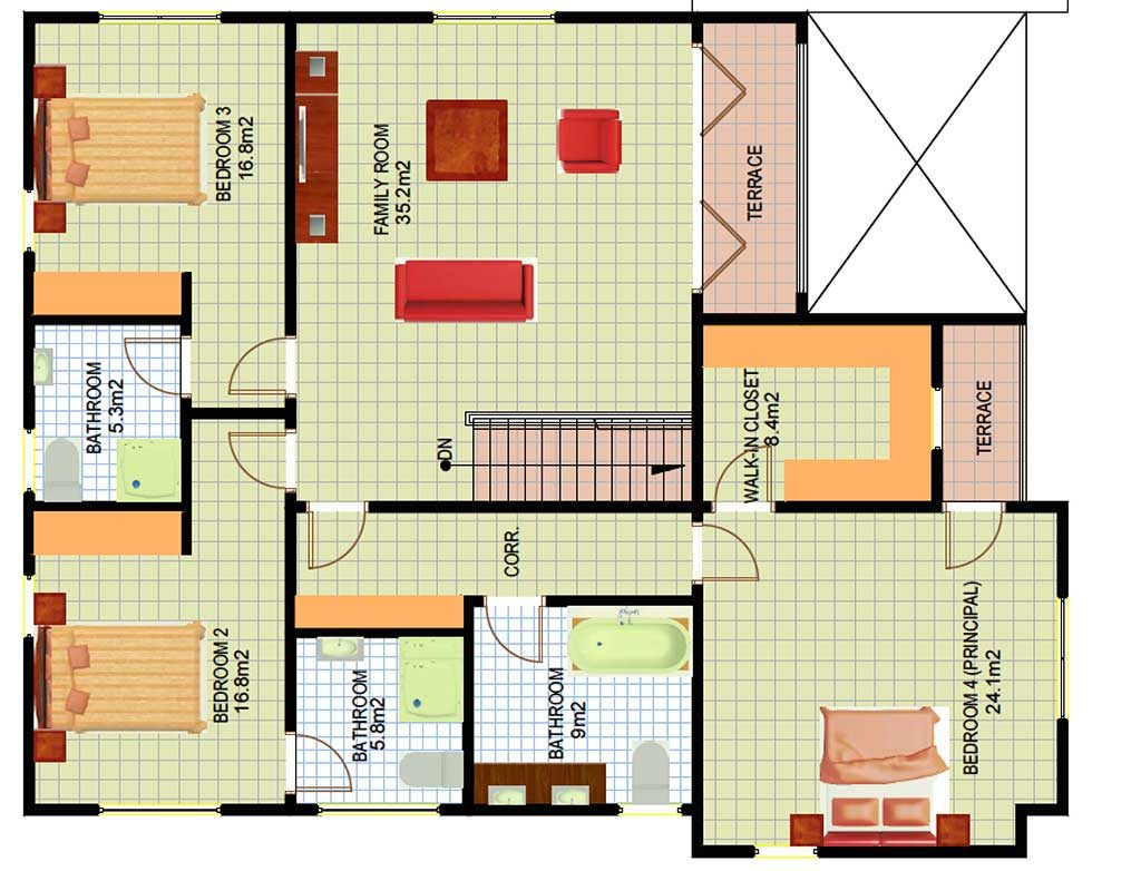 Contemporary floor plans for ghana liberia all african for Liberia house plans