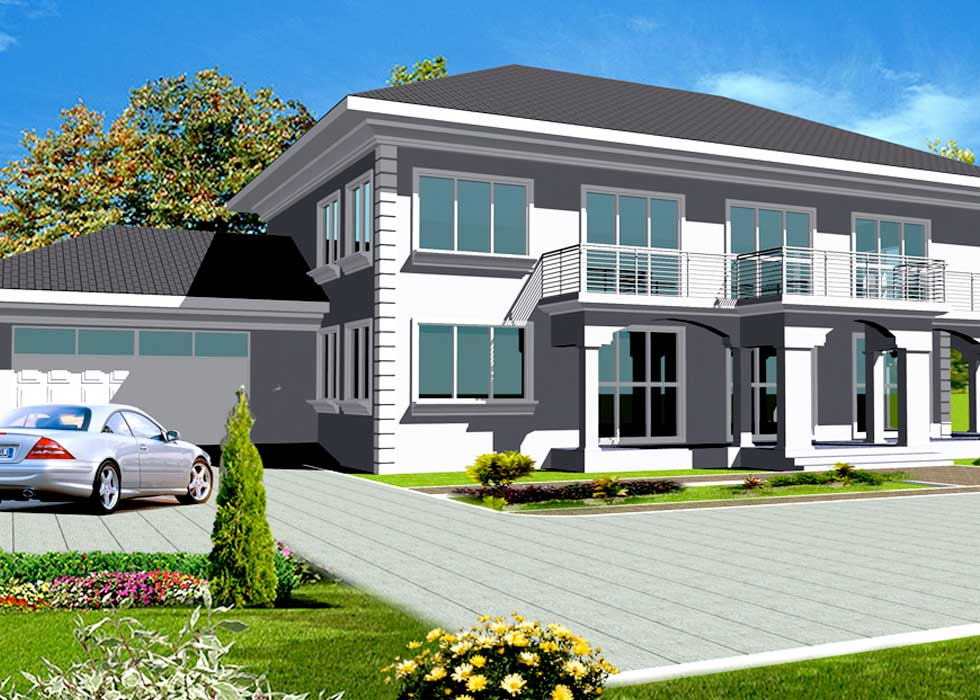 Ghana house plans africa house plans ghana architects for How many blocks can build 2 bedroom flat