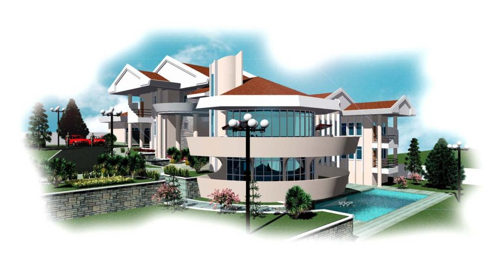 Mansion Floor Plan for Ghana, Liberia & All Africa Countries