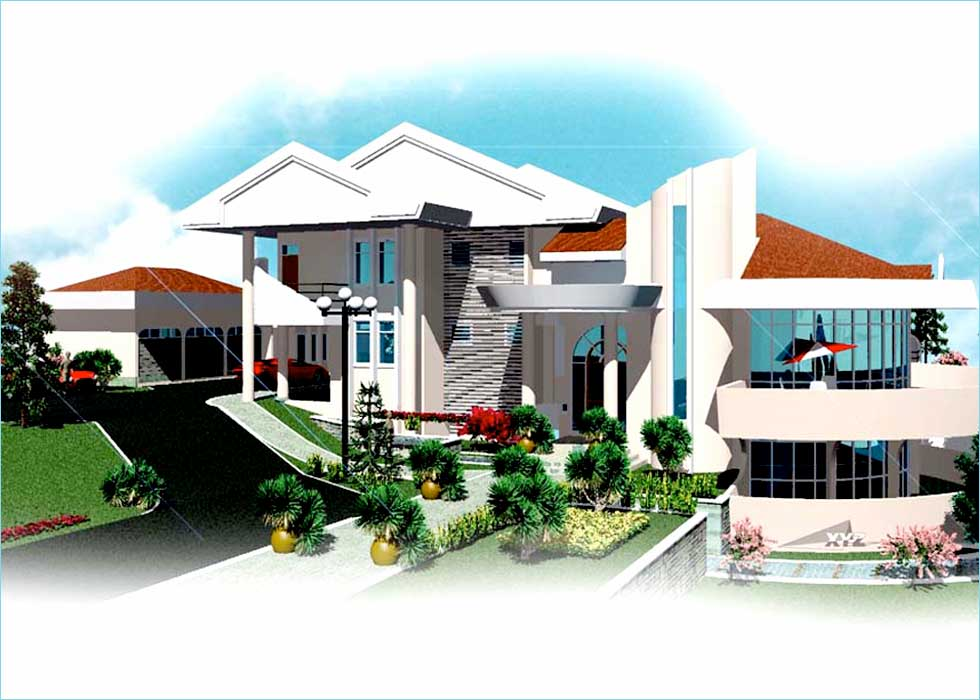 House plans and designs in ghana for Modern house plans in ghana