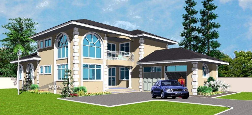 House design for uganda niger cameroon and cote d 39 ivoire for Modern house plans in ghana