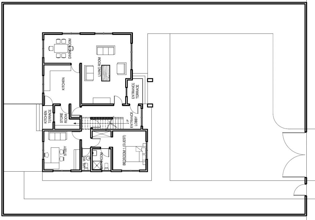Liberia house plan 4 bedrooms 4 bathrooms home design for Ground floor house design