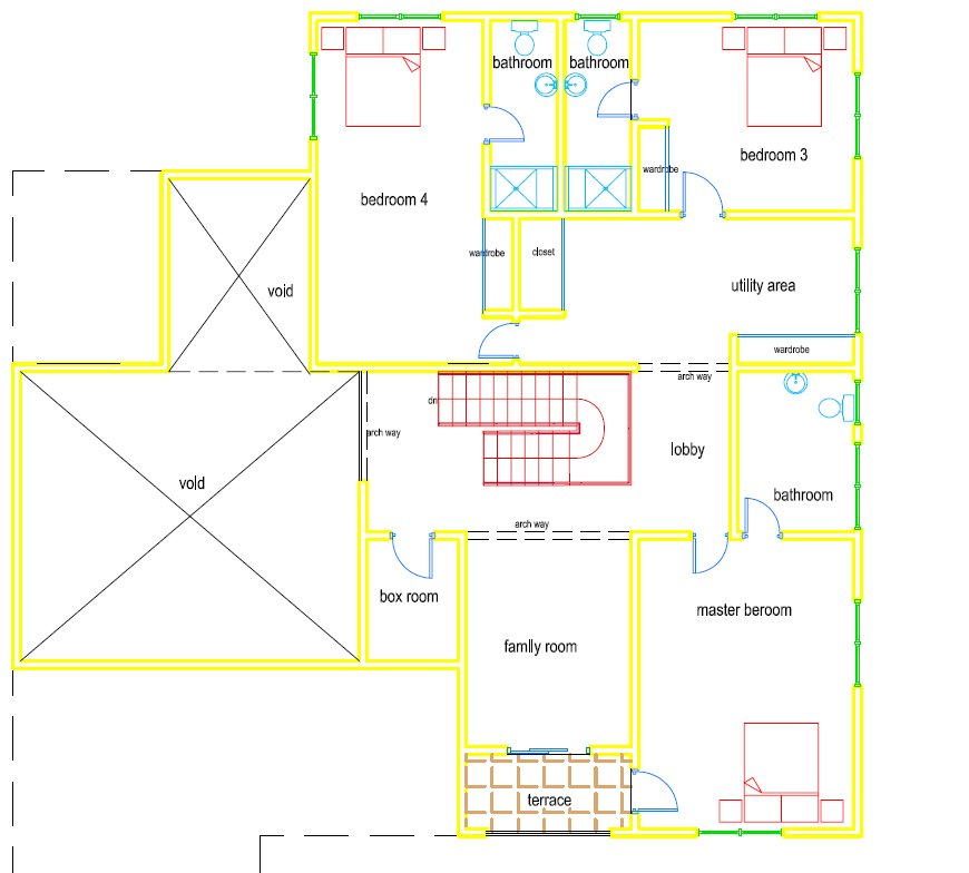 5 bed 5 5 bath home plan for Building plans in ghana