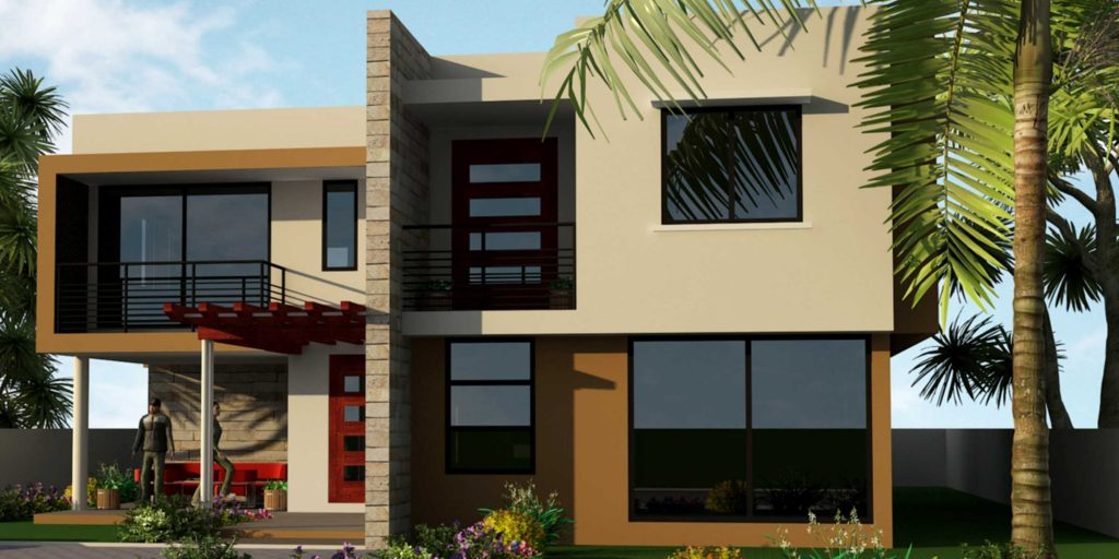 Five Bedrooms Contemporary House Plan