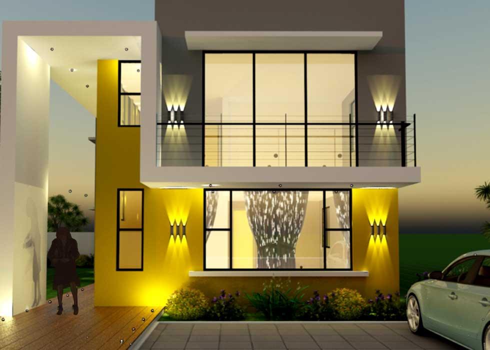 4 Bedrooms 4.5 Bathrooms Ghana House Plan